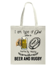 Beer And Rugby Tote Bag thumbnail