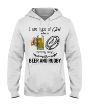 Beer And Rugby Hooded Sweatshirt thumbnail