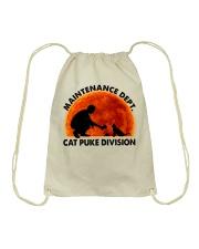 Cat Puke Division Drawstring Bag thumbnail