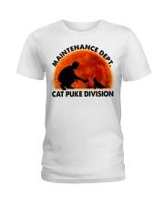 Cat Puke Division Ladies T-Shirt thumbnail