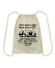 She Also Needs Dogs  Drawstring Bag thumbnail