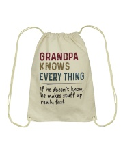 Grandpa Knows Every Thing Drawstring Bag thumbnail