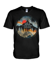 The World Is Too Big V-Neck T-Shirt thumbnail
