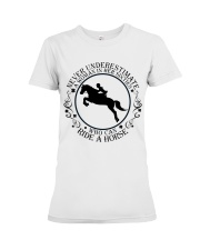 Who Can Ride A Horse Premium Fit Ladies Tee thumbnail