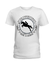 Who Can Ride A Horse Ladies T-Shirt thumbnail