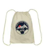 Home Is Where You Park It Drawstring Bag thumbnail