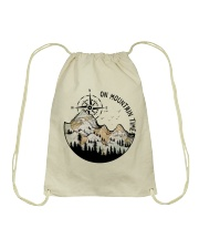 On Mountain Time Drawstring Bag thumbnail