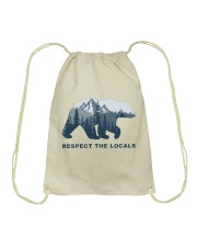 Respect The Locals Drawstring Bag thumbnail