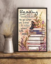 Reading Gives Us Someplace 11x17 Poster lifestyle-poster-3