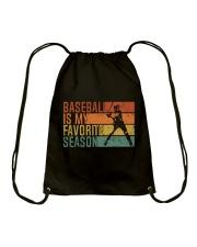 Baseball Is My Favorite Season Drawstring Bag thumbnail