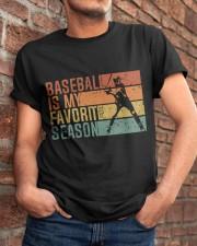 Baseball Is My Favorite Season Classic T-Shirt apparel-classic-tshirt-lifestyle-26
