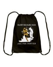 Rugby Because Pads Drawstring Bag thumbnail