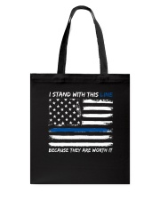 I Stand With This Line Tote Bag thumbnail