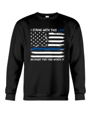 I Stand With This Line Crewneck Sweatshirt thumbnail