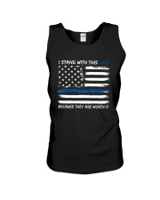 I Stand With This Line Unisex Tank thumbnail