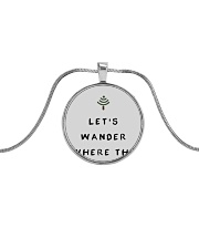 Lets Wander Metallic Circle Necklace thumbnail