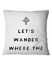 Lets Wander Square Pillowcase thumbnail