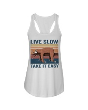Live Slow Take It Easy Ladies Flowy Tank thumbnail