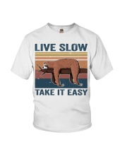 Live Slow Take It Easy Youth T-Shirt thumbnail