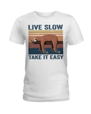 Live Slow Take It Easy Ladies T-Shirt thumbnail
