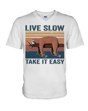 Live Slow Take It Easy V-Neck T-Shirt thumbnail