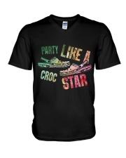 Party Like A Crocs Star V-Neck T-Shirt thumbnail