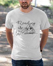 Reading Is Lit Classic T-Shirt apparel-classic-tshirt-lifestyle-front-50