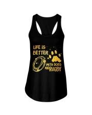 Life Is Better Ladies Flowy Tank thumbnail