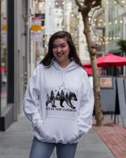 Never Stop Exploring Hooded Sweatshirt lifestyle-unisex-hoodie-front-2