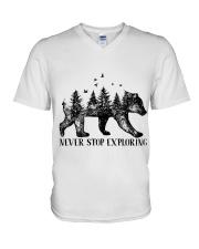 Never Stop Exploring V-Neck T-Shirt thumbnail