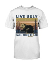Live Ugly Fake Your Death Premium Fit Mens Tee thumbnail