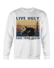 Live Ugly Fake Your Death Crewneck Sweatshirt thumbnail