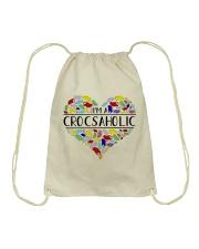 I am A Crocsaholic Drawstring Bag thumbnail