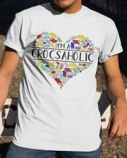 I am A Crocsaholic Classic T-Shirt apparel-classic-tshirt-lifestyle-28