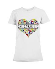 I am A Crocsaholic Premium Fit Ladies Tee thumbnail