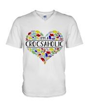I am A Crocsaholic V-Neck T-Shirt thumbnail