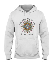 Will Not Stress Over Things Hooded Sweatshirt front