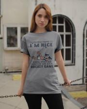 People Think I Am Nice Classic T-Shirt apparel-classic-tshirt-lifestyle-19