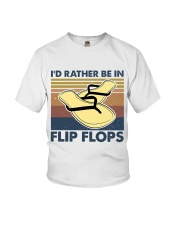 I'd Rather Be In Flip Flops Youth T-Shirt thumbnail