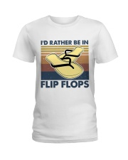 I'd Rather Be In Flip Flops Ladies T-Shirt thumbnail