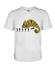 Chameleon Funny V-Neck T-Shirt thumbnail