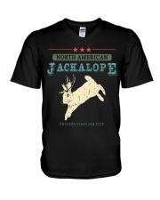 Noth American Jackalope V-Neck T-Shirt thumbnail