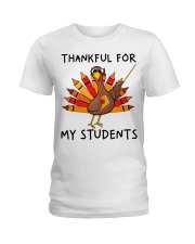 Thankful For My Students Ladies T-Shirt thumbnail