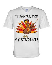 Thankful For My Students V-Neck T-Shirt thumbnail