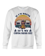 It's My Camping Friends Fault Crewneck Sweatshirt thumbnail