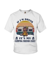 It's My Camping Friends Fault Youth T-Shirt thumbnail