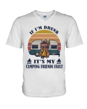 It's My Camping Friends Fault V-Neck T-Shirt thumbnail