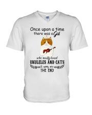 Ukuleles And Cats V-Neck T-Shirt thumbnail