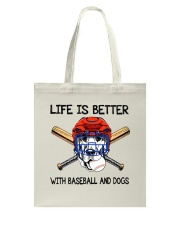 Baseball And Dogs Tote Bag thumbnail