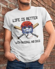 Baseball And Dogs Classic T-Shirt apparel-classic-tshirt-lifestyle-26